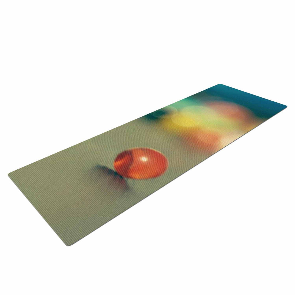 "Sylvia Coomes ""Marble Bokeh"" Multicolor Abstract Yoga Mat - KESS InHouse  - 1"