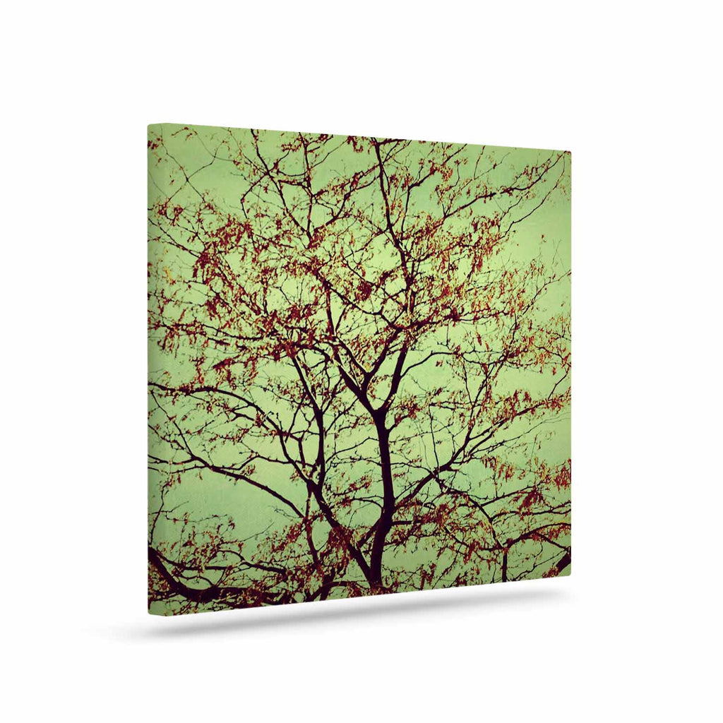 "Sylvia Coomes ""Modern Fall Tree"" Green Brown Canvas Art - KESS InHouse  - 1"