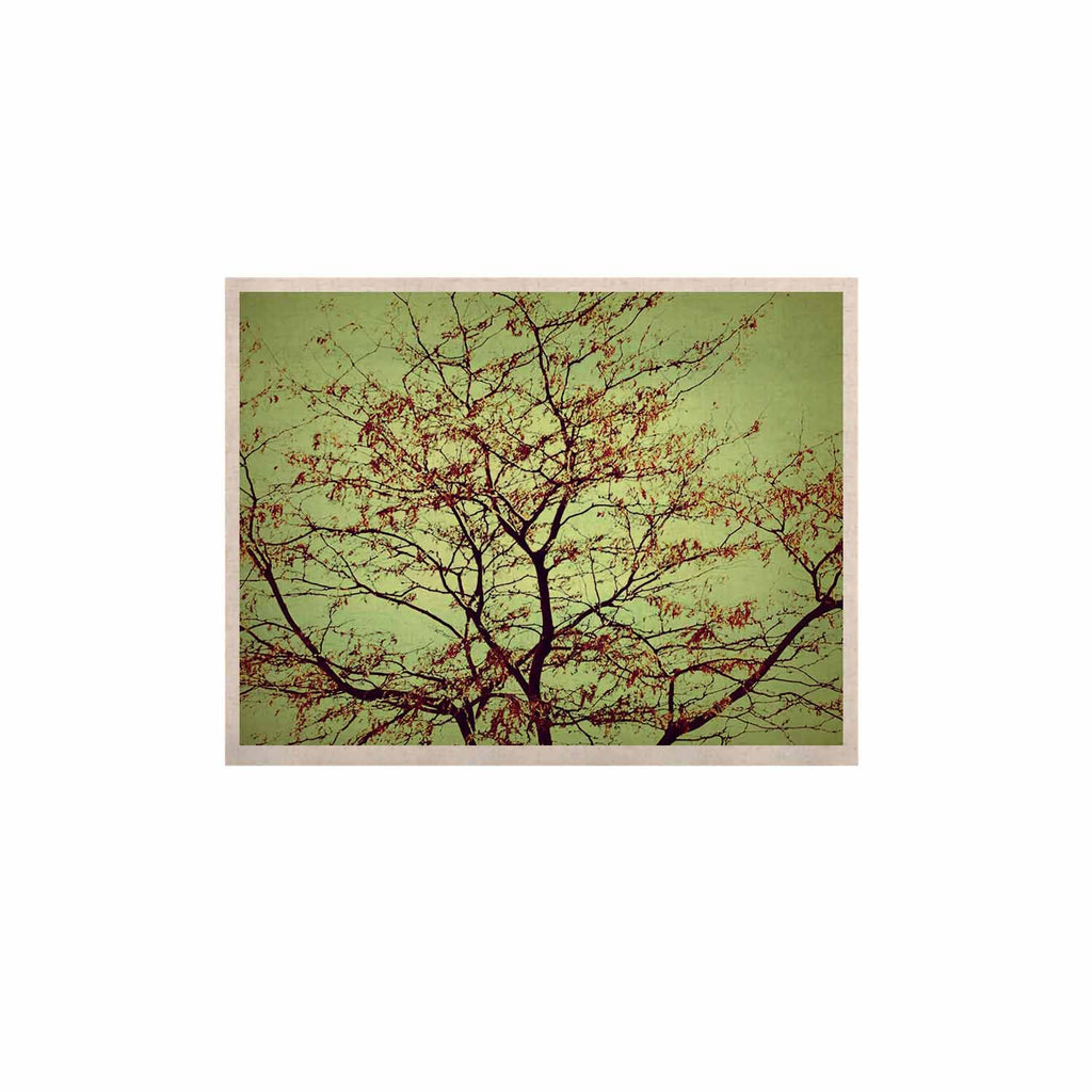 "Sylvia Coomes ""Modern Fall Tree"" Green Brown KESS Naturals Canvas (Frame not Included) - KESS InHouse  - 1"
