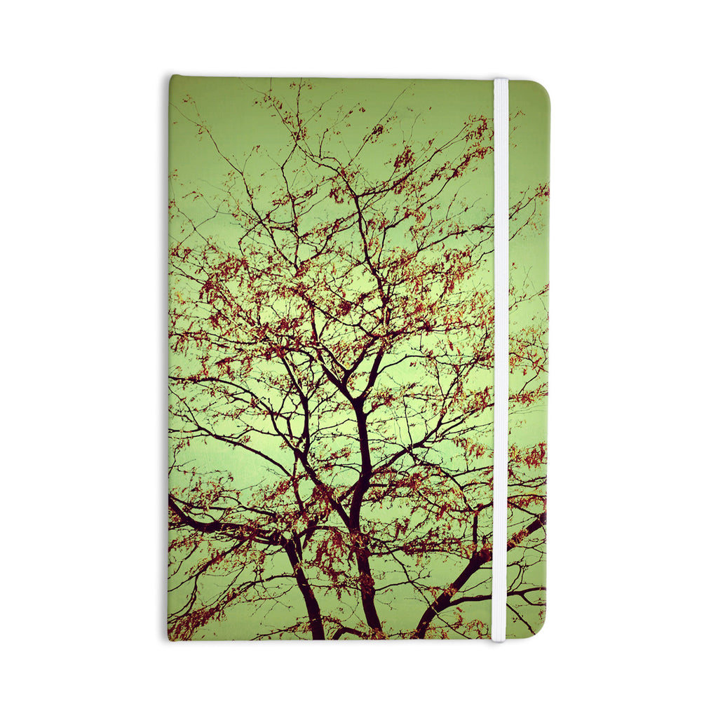 "Sylvia Coomes ""Modern Fall Tree"" Green Brown Everything Notebook - KESS InHouse  - 1"