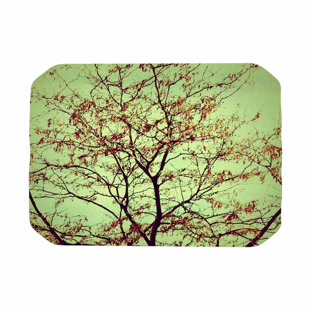 "Sylvia Coomes ""Modern Fall Tree"" Green Brown Place Mat - KESS InHouse"