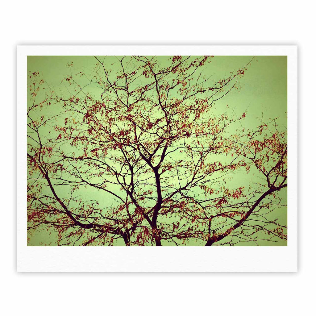 "Sylvia Coomes ""Modern Fall Tree"" Green Brown Fine Art Gallery Print - KESS InHouse"