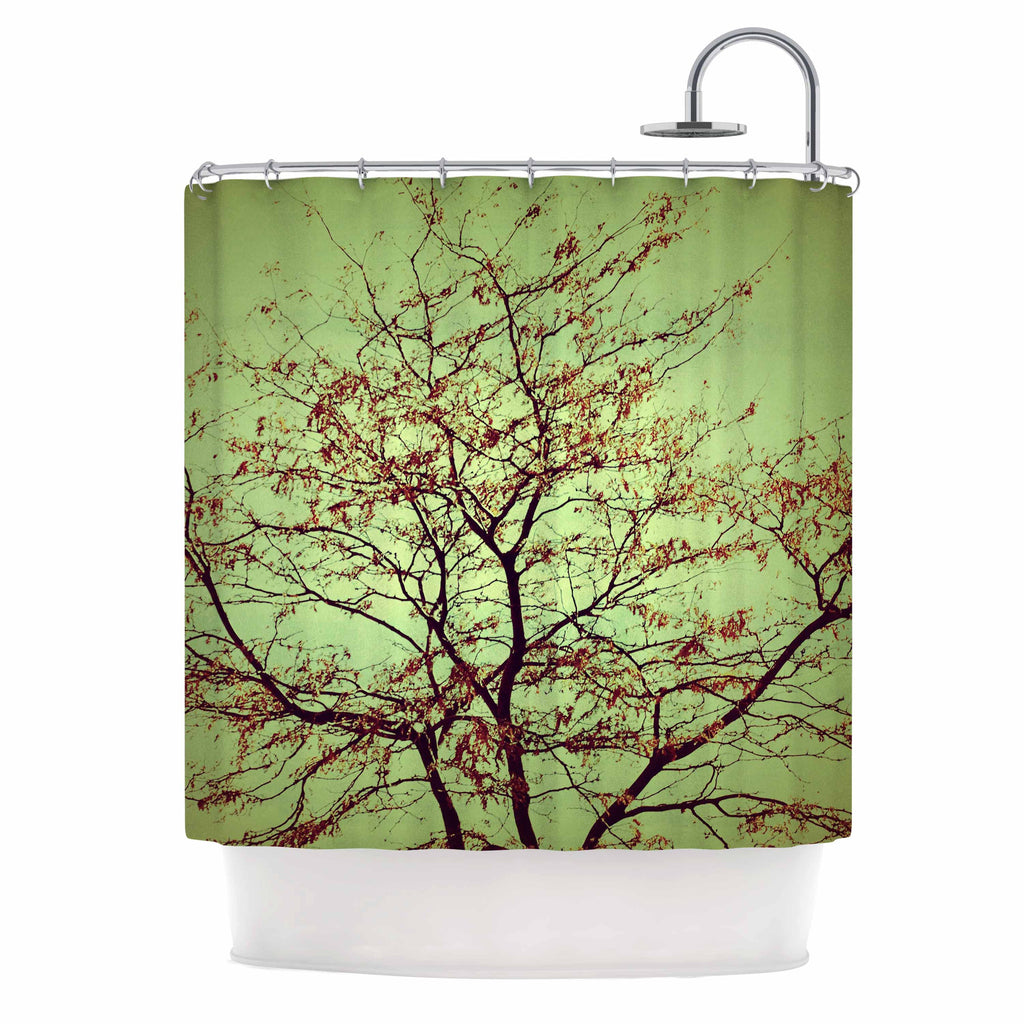 Modern Fall Tree Shower Curtain By Sylvia Coomes
