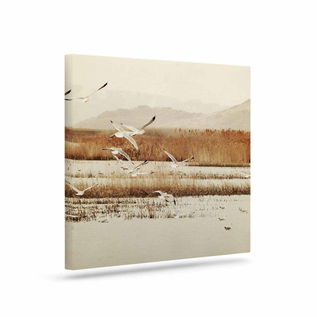 "Sylvia Coomes ""Nautical Flight"" Tan Brown Canvas Art - KESS InHouse  - 1"