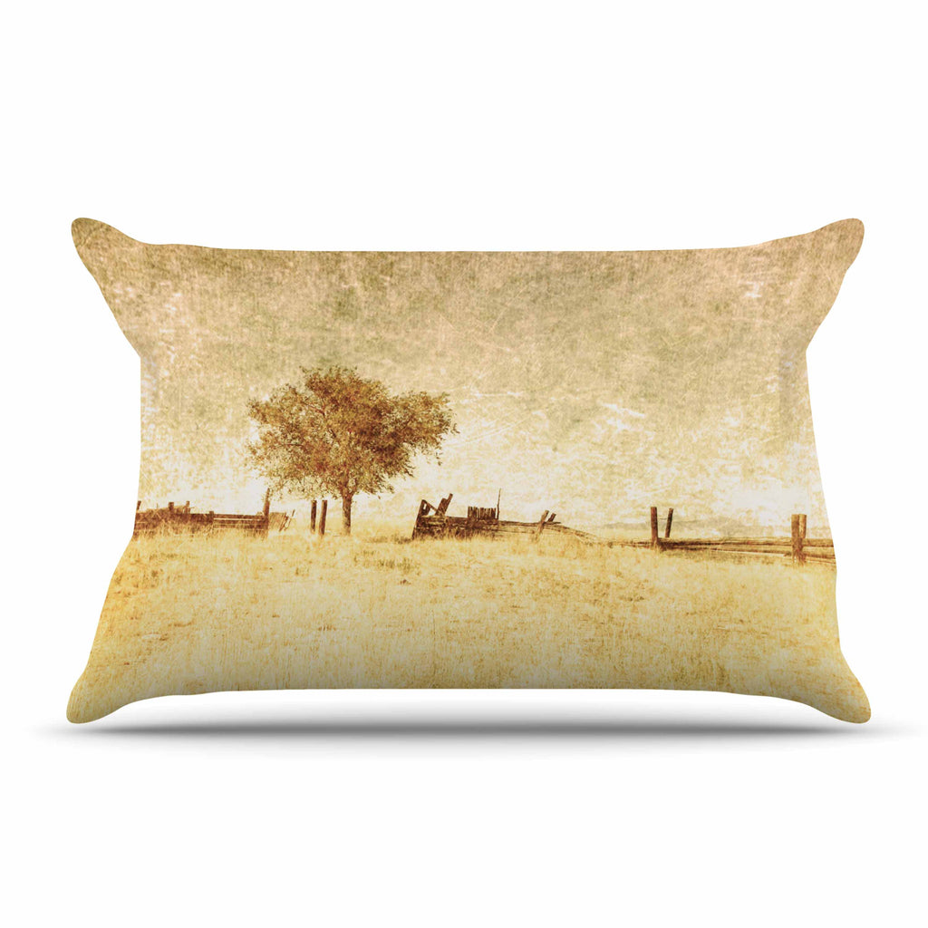 "Sylvia Coomes ""One Tree"" Brown Tan Pillow Sham - KESS InHouse"