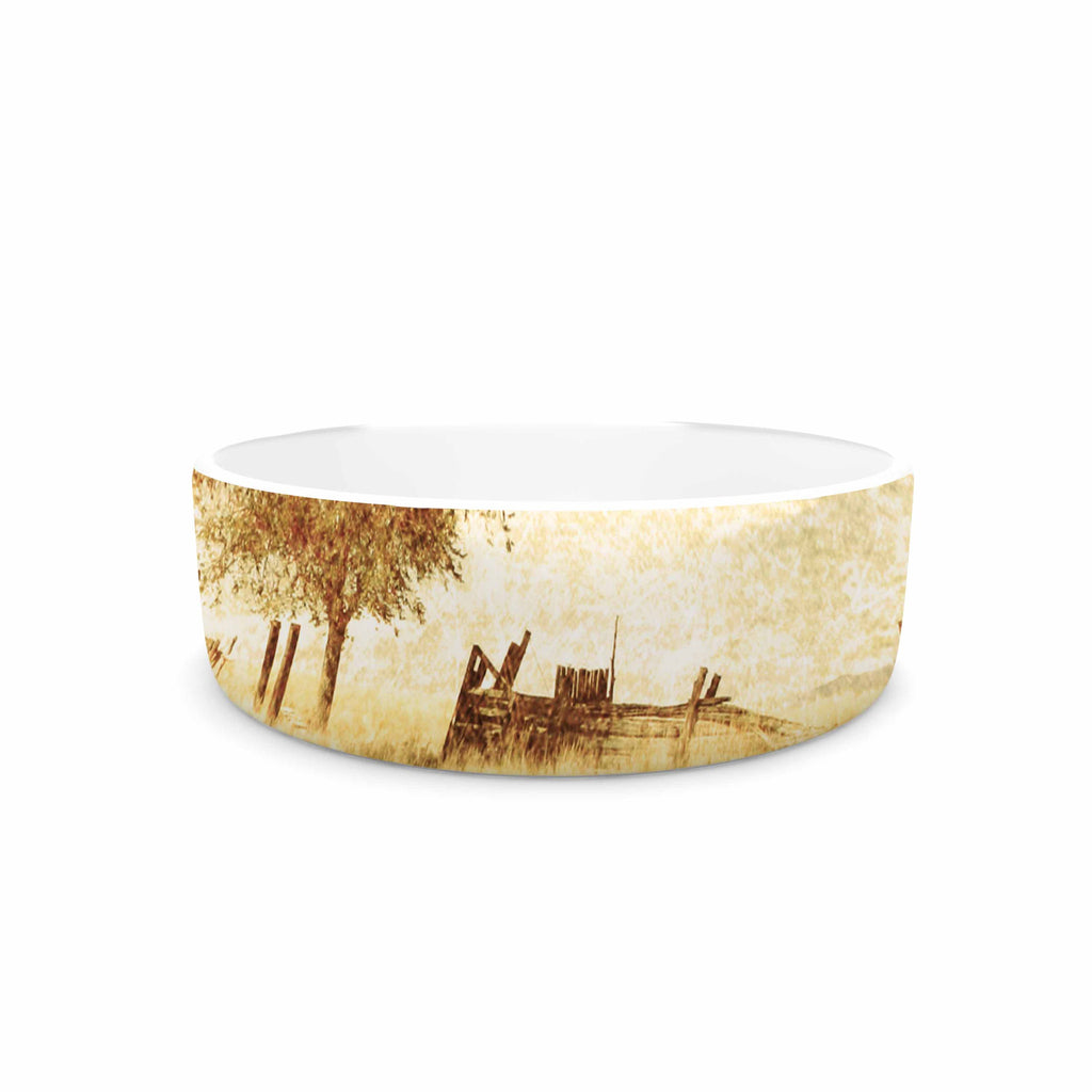 "Sylvia Coomes ""One Tree"" Brown Tan Pet Bowl - KESS InHouse"