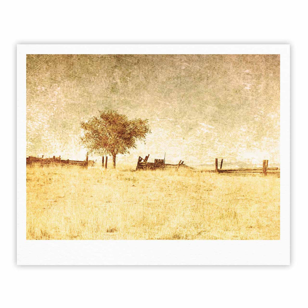 "Sylvia Coomes ""One Tree"" Brown Tan Fine Art Gallery Print - KESS InHouse"