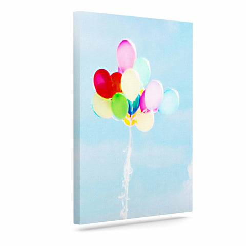 "Sylvia Coomes ""Balloons in the Sky"" Photography Kids Canvas Art - Outlet Item"