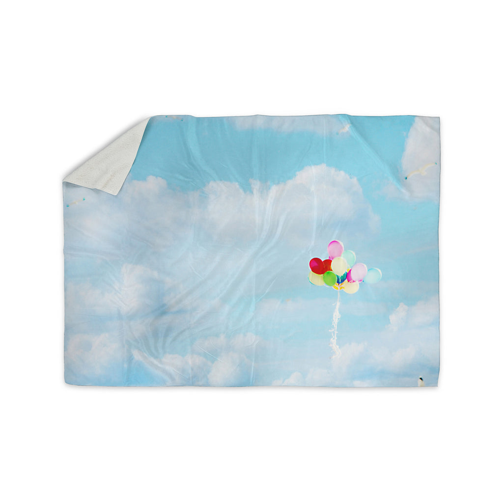 "Sylvia Coomes ""Balloons in the Sky"" Photography Kids Sherpa Blanket - KESS InHouse  - 1"