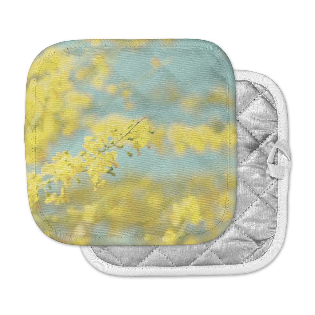 "Sylvia Coomes ""Yellow Blooms 2"" Blue Yellow Pot Holder"