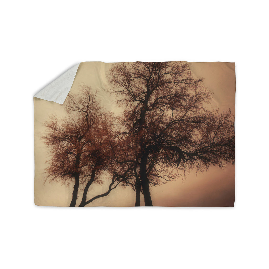 "Sylvia Coomes ""Rust Trees"" Photography Nature Sherpa Blanket - KESS InHouse  - 1"