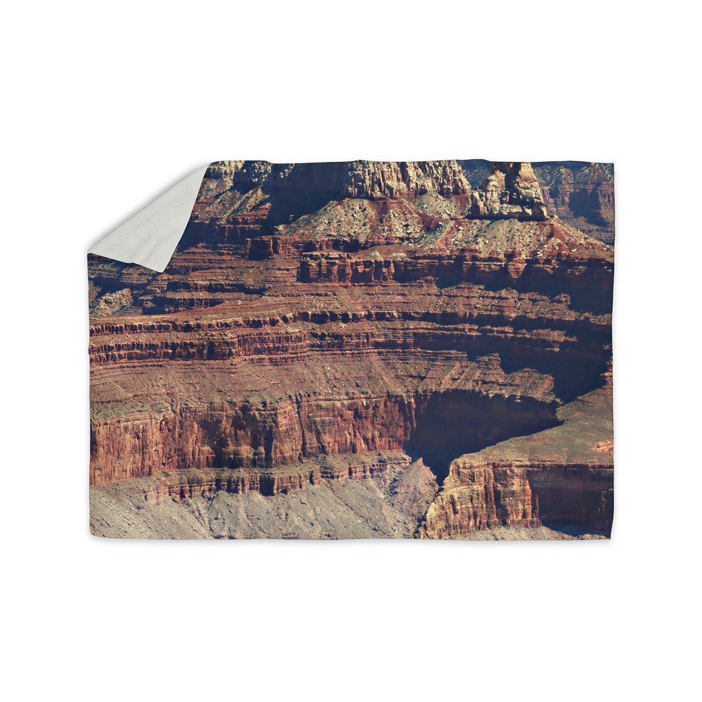 "Sylvia Coomes ""Grand Canyon Landscape 1"" Brown Tan Sherpa Blanket - KESS InHouse  - 1"