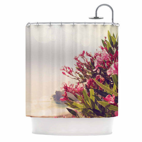 "Sylvia Coomes ""Flowers In Paradise"" Green Pink Shower Curtain - Outlet Item - KESS InHouse"