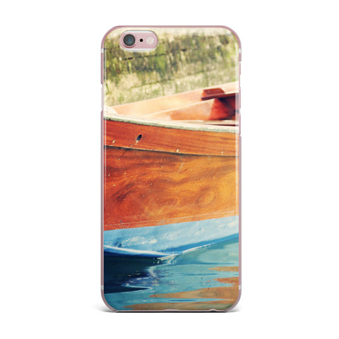 "Sylvia Coomes ""Venetian Boat"" Blue Brown iPhone Case - KESS InHouse"