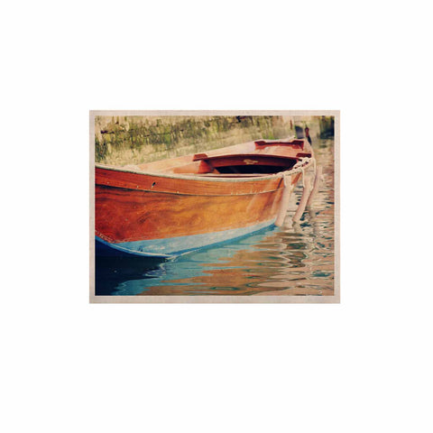 "Sylvia Coomes ""Venetian Boat"" Blue Brown KESS Naturals Canvas (Frame not Included) - KESS InHouse  - 1"