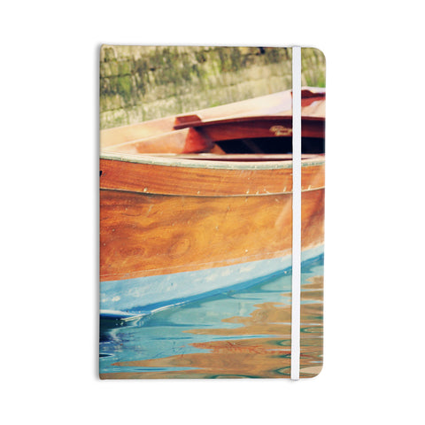 "Sylvia Coomes ""Venetian Boat"" Blue Brown Everything Notebook - KESS InHouse  - 1"