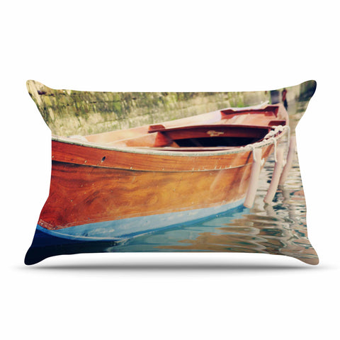 "Sylvia Coomes ""Venetian Boat"" Pillow Case - Outlet Item"
