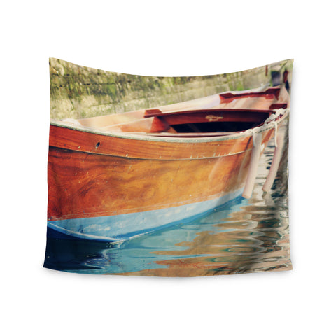 "Sylvia Coomes ""Venetian Boat"" Blue Brown Wall Tapestry - KESS InHouse"