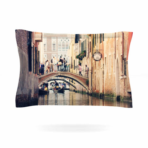 "Sylvia Coomes ""Venice 10"" Beige Brown Pillow Sham - KESS InHouse  - 1"