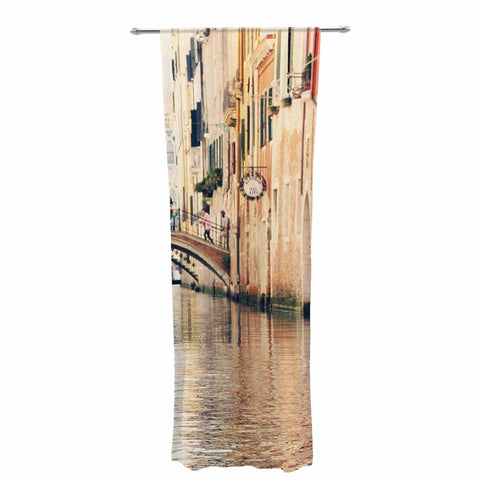 "Sylvia Coomes ""Venice 10"" Beige Brown Decorative Sheer Curtain - KESS InHouse  - 1"