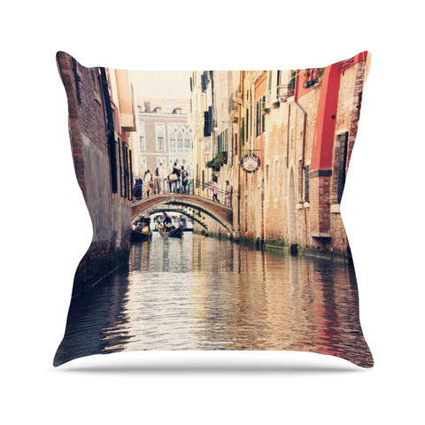 "Sylvia Coomes ""Venice 10"" Beige Brown Throw Pillow - KESS InHouse  - 1"