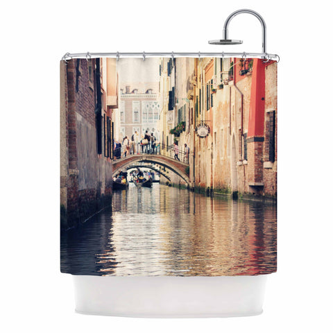 "Sylvia Coomes ""Venice 10"" Beige Brown Shower Curtain - KESS InHouse"