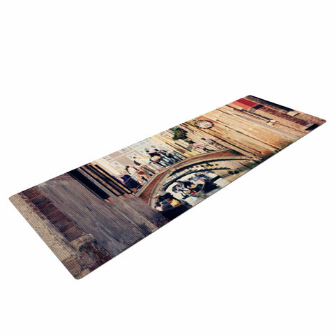 "Sylvia Coomes ""Venice 10"" Beige Brown Yoga Mat - KESS InHouse  - 1"