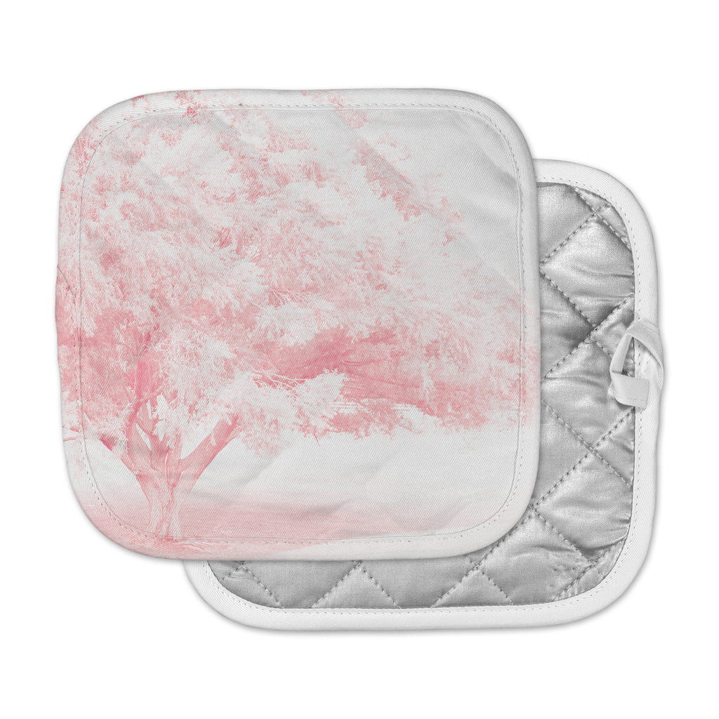 "Sylvia Coomes ""Pink Frost "" White Photography Pot Holder"