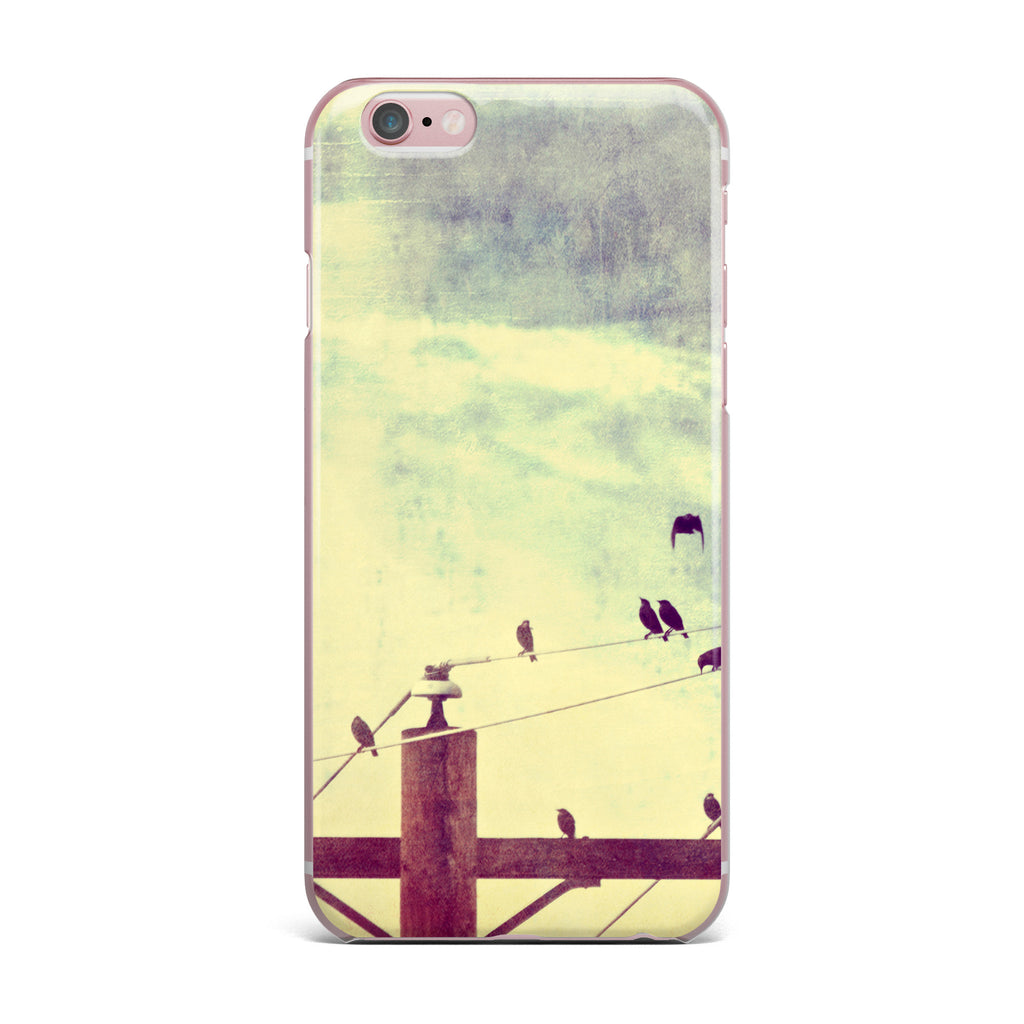"Sylvia Coomes ""Vintage Birds On A Wire 1"" Brown Vintage iPhone Case - KESS InHouse"