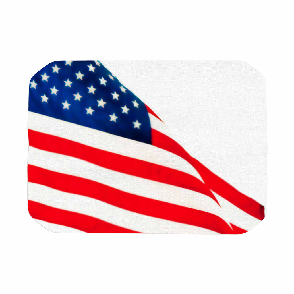 "Sylvia Coomes ""American Flag"" Red Holiday Place Mat - KESS InHouse"