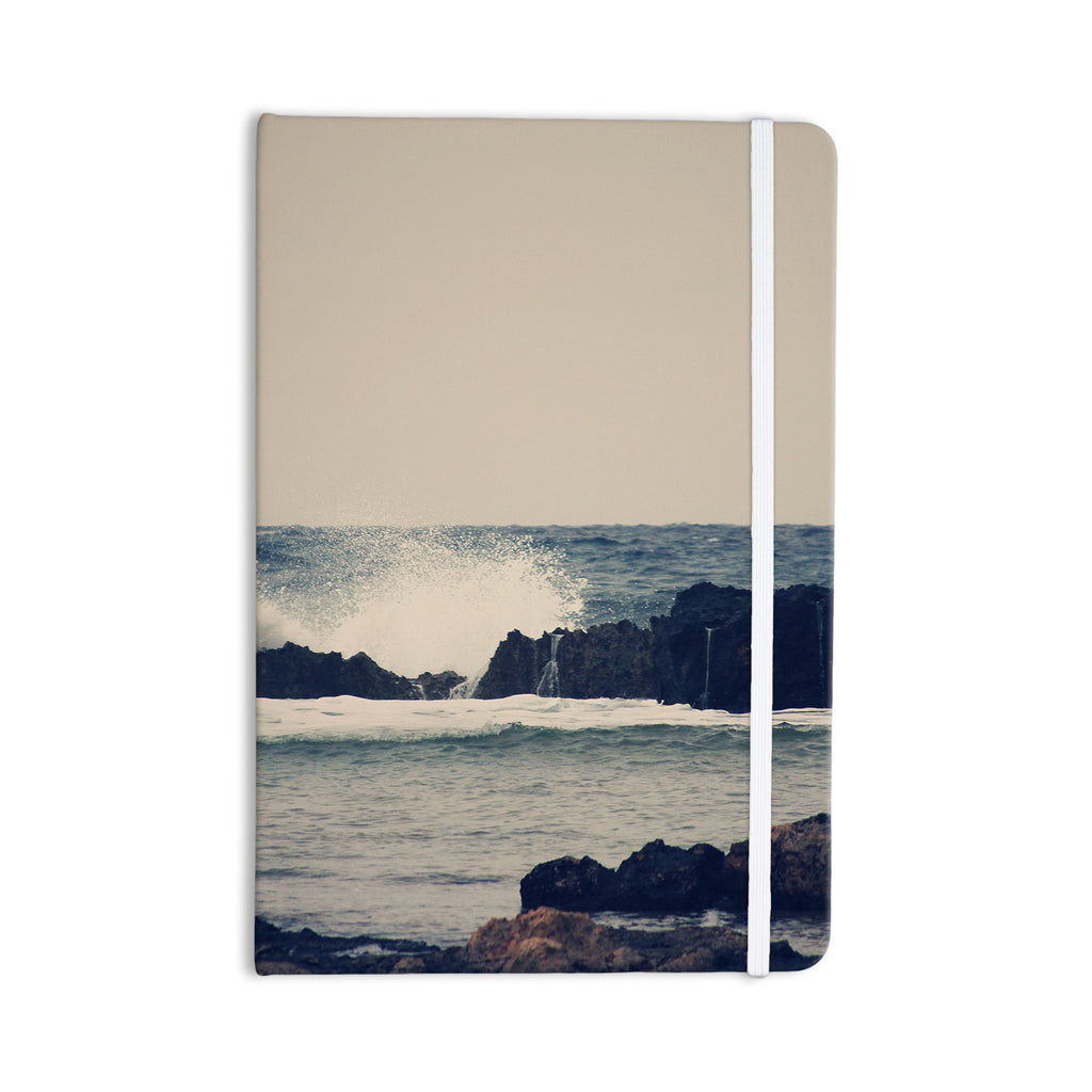 "Sylvia Coomes ""Ocean Blue 2"" White Coastal Everything Notebook - KESS InHouse  - 1"