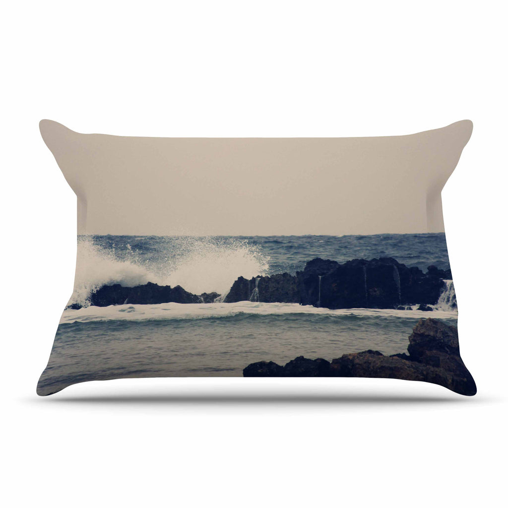 "Sylvia Coomes ""Ocean Blue 2"" White Coastal Pillow Sham - KESS InHouse  - 1"