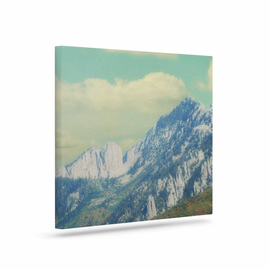 "Sylvia Coomes ""Utah Mountains"" Blue Nature Canvas Art - KESS InHouse  - 1"