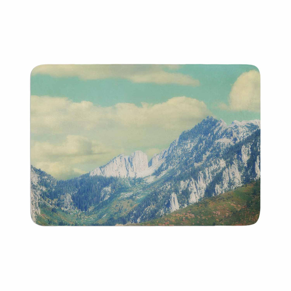 "Sylvia Coomes ""Utah Mountains"" Blue Nature Memory Foam Bath Mat - KESS InHouse"