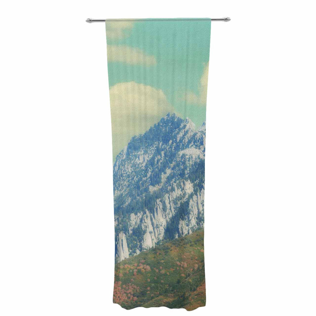 "Sylvia Coomes ""Utah Mountains"" Blue Nature Decorative Sheer Curtain - KESS InHouse  - 1"