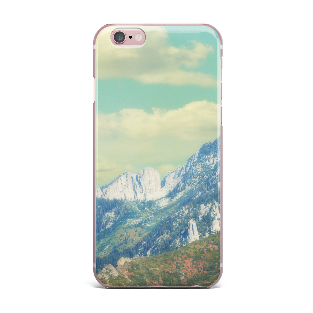 "Sylvia Coomes ""Utah Mountains"" Blue Nature iPhone Case - KESS InHouse"