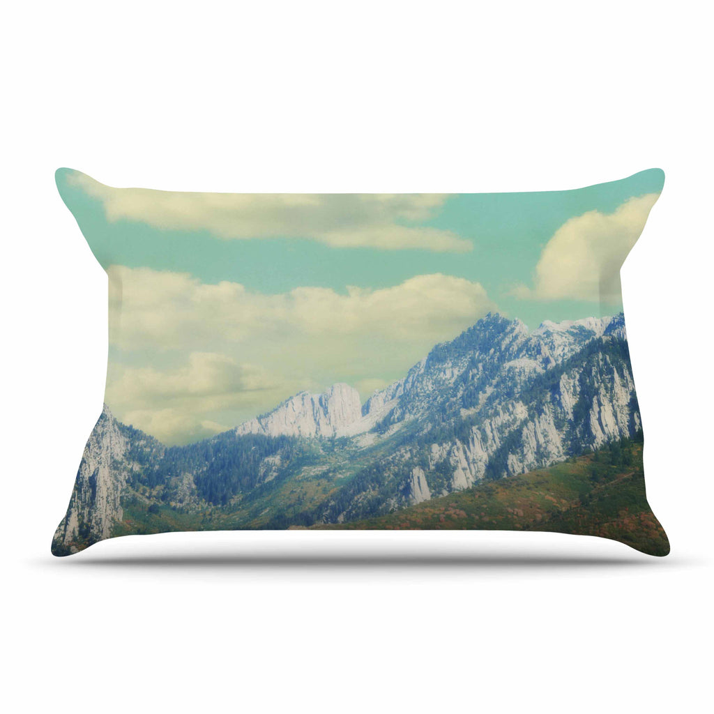 "Sylvia Coomes ""Utah Mountains"" Blue Nature Pillow Sham - KESS InHouse  - 1"