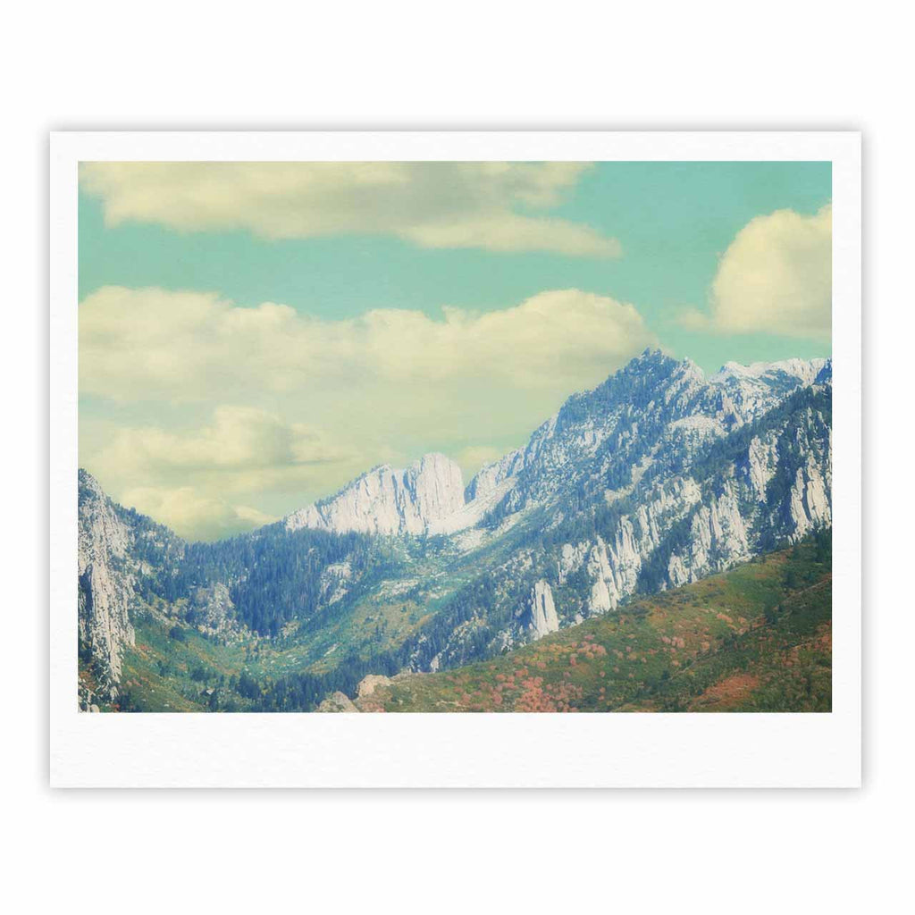 "Sylvia Coomes ""Utah Mountains"" Blue Nature Fine Art Gallery Print - KESS InHouse"