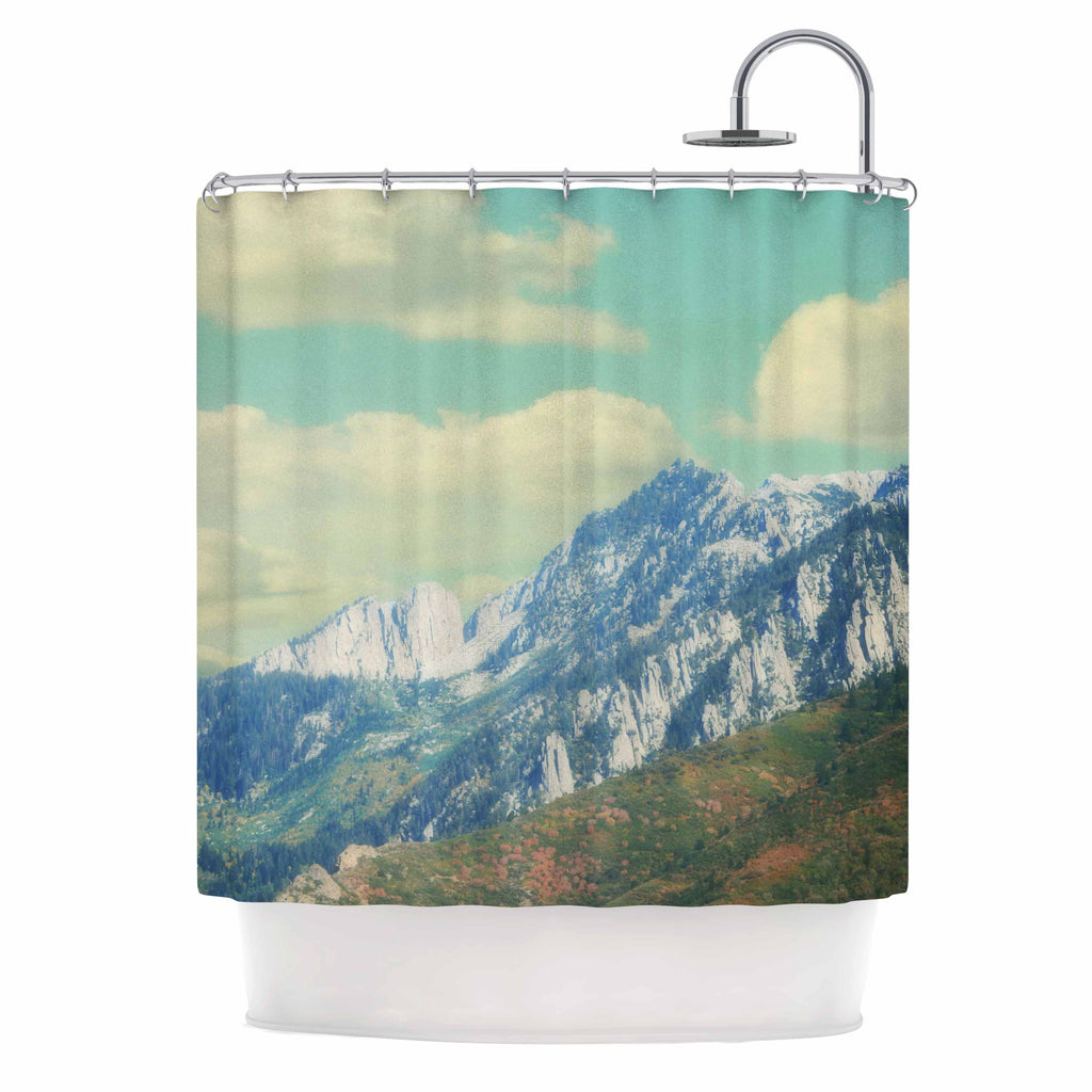 "Sylvia Coomes ""Utah Mountains"" Blue Nature Shower Curtain - KESS InHouse"