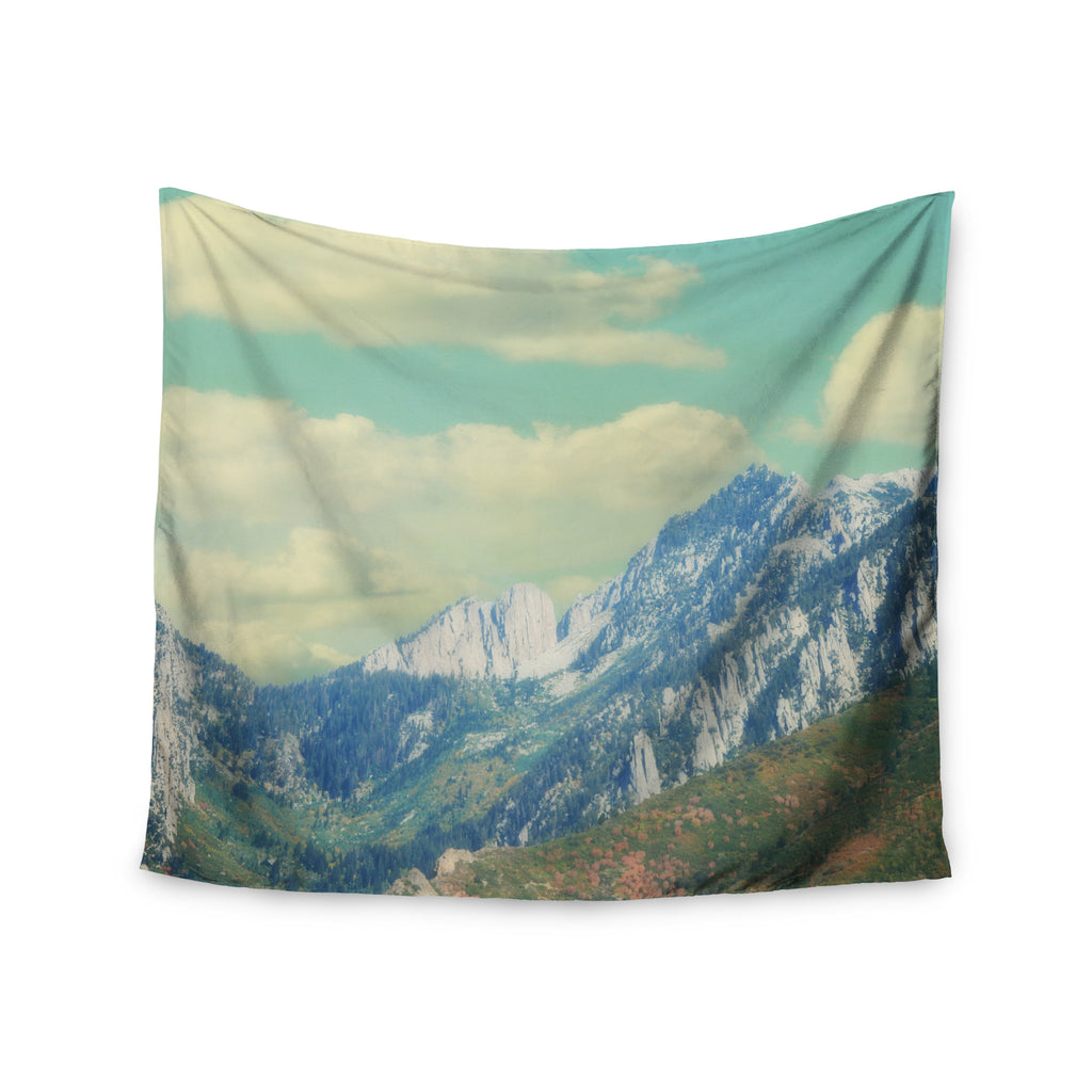 "Sylvia Coomes ""Utah Mountains"" Blue Nature Wall Tapestry - KESS InHouse  - 1"