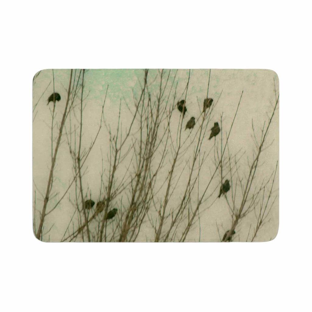 "Sylvia Coomes ""Braving The Cold"" Blue Photography Memory Foam Bath Mat - KESS InHouse"