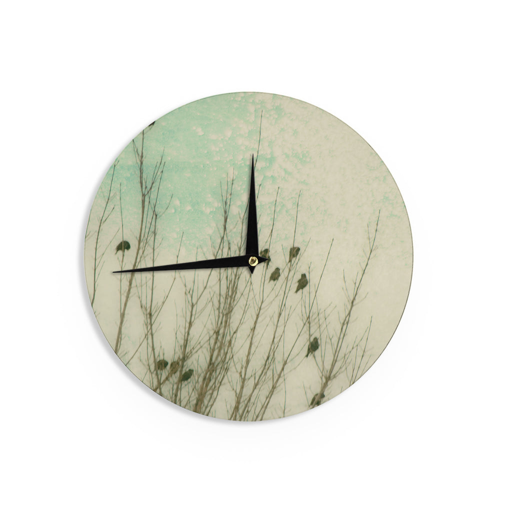 "Sylvia Coomes ""Braving The Cold"" Blue Photography Wall Clock - KESS InHouse"