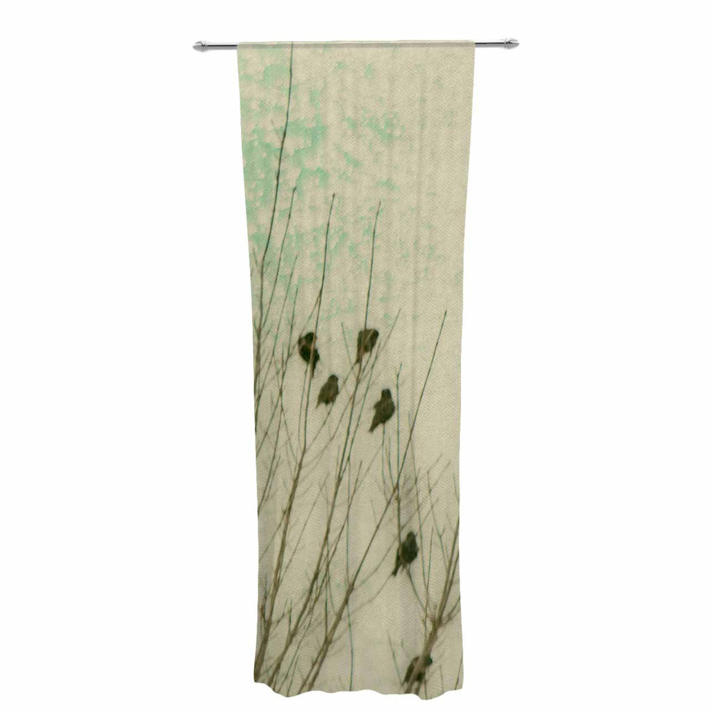 "Sylvia Coomes ""Braving The Cold"" Blue Photography Decorative Sheer Curtain - KESS InHouse  - 1"