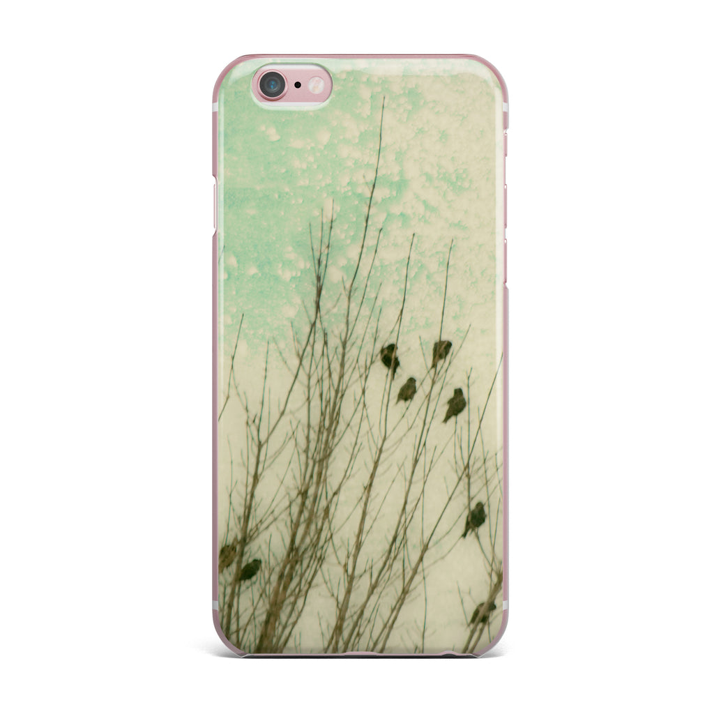 "Sylvia Coomes ""Braving The Cold"" Blue Photography iPhone Case - KESS InHouse"