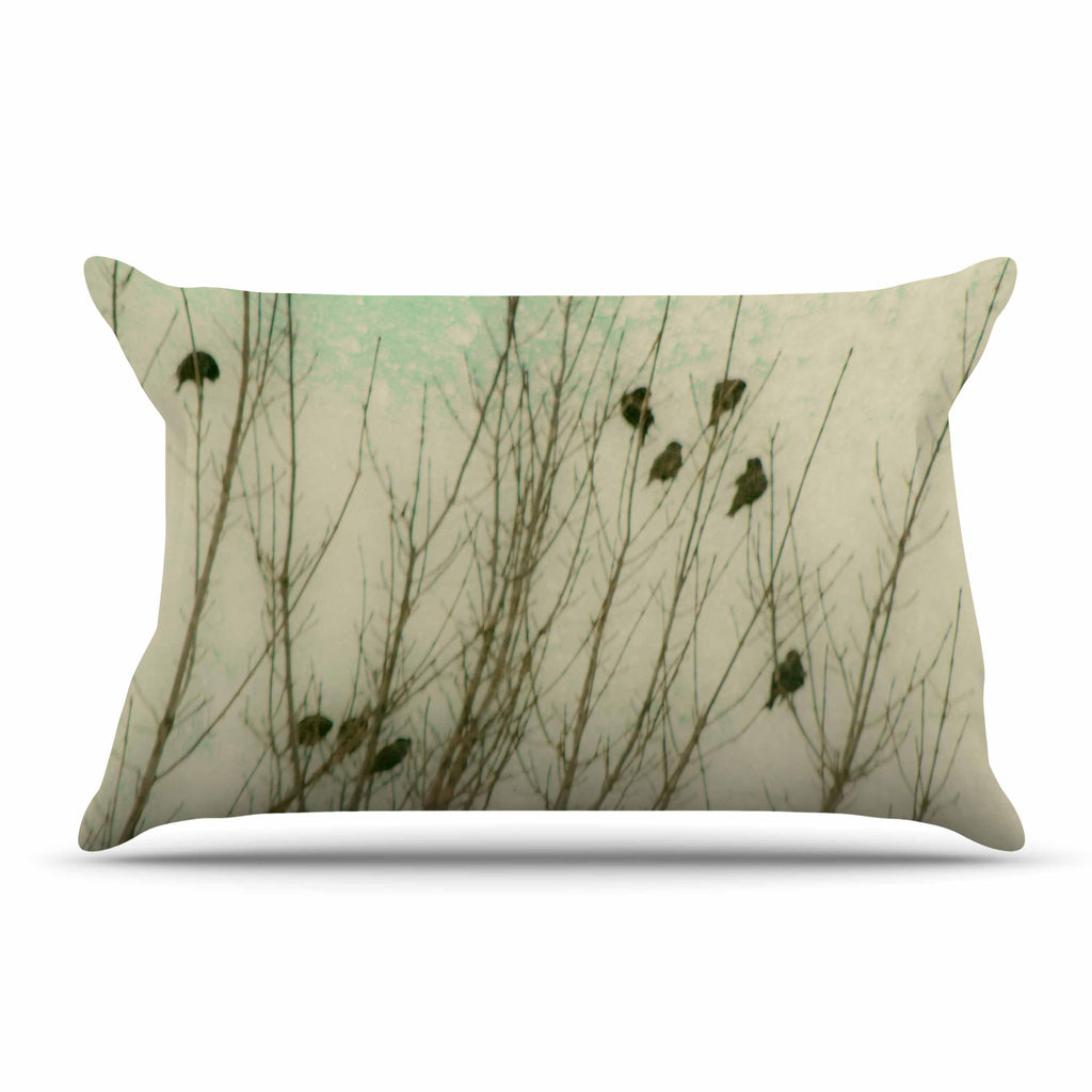 "Sylvia Coomes ""Braving The Cold"" Blue Photography Pillow Sham - KESS InHouse  - 1"