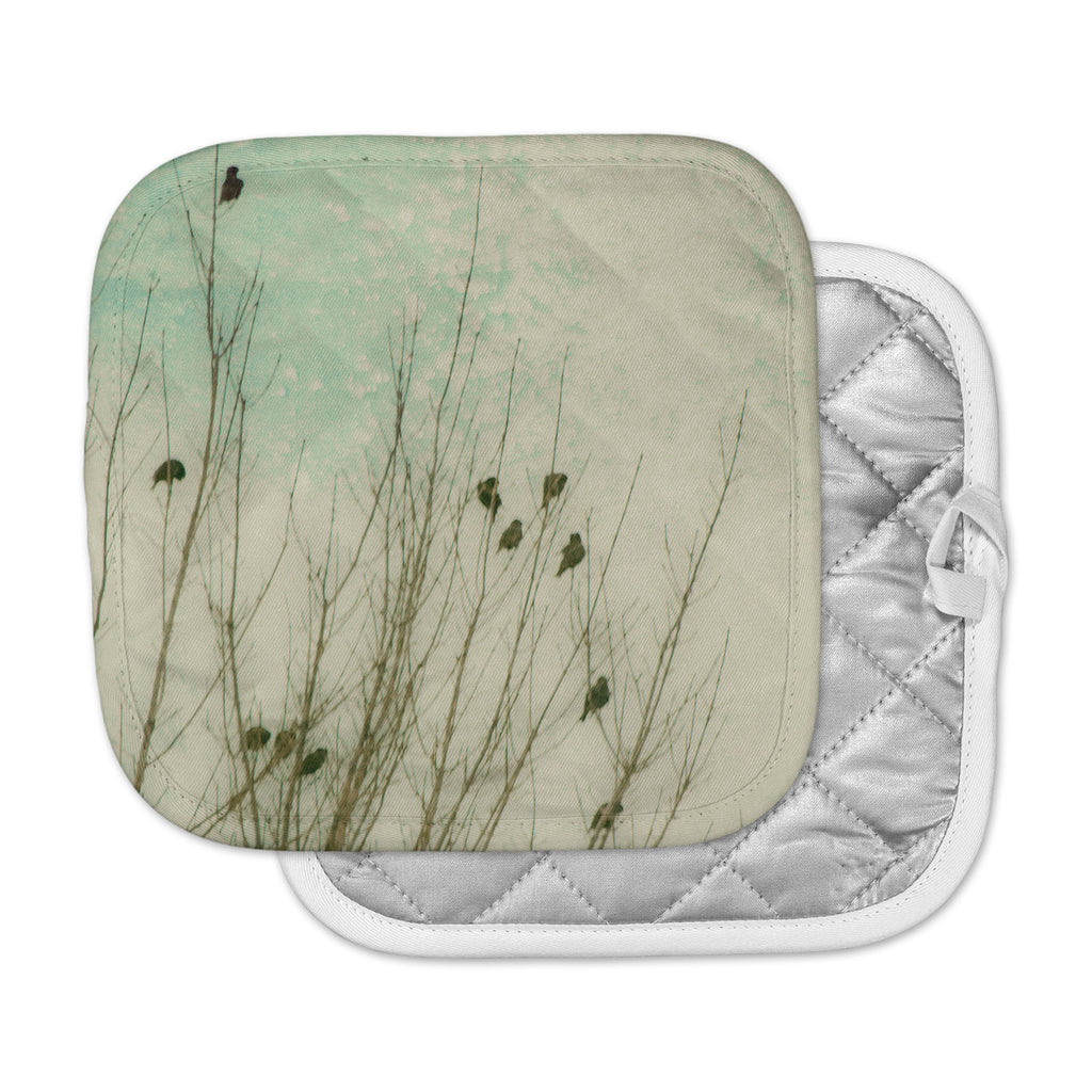 "Sylvia Coomes ""Braving The Cold"" Blue Photography Pot Holder"