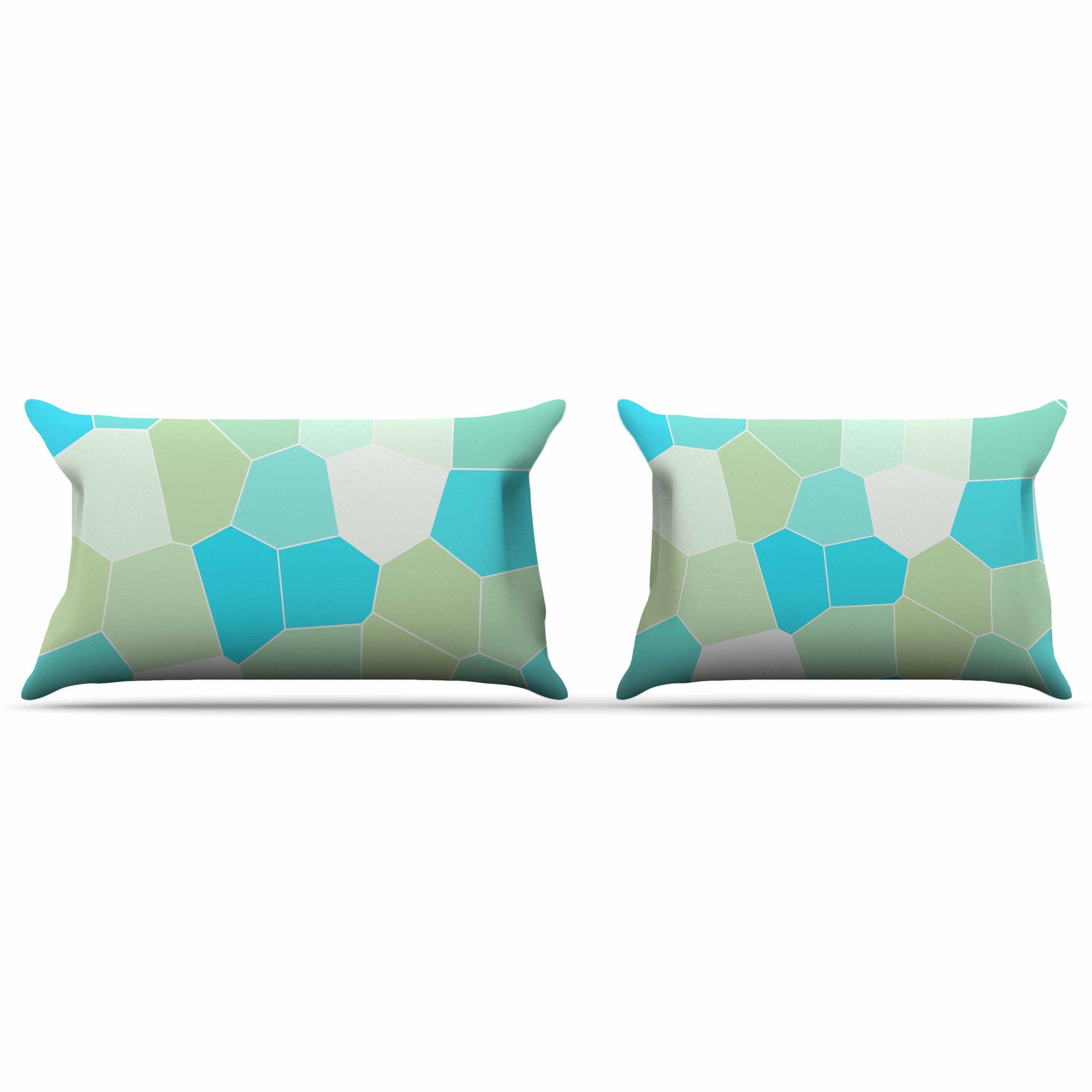 Sylvia Coomes Quot Aqua And Sage Quot Blue Green Pillow Sham