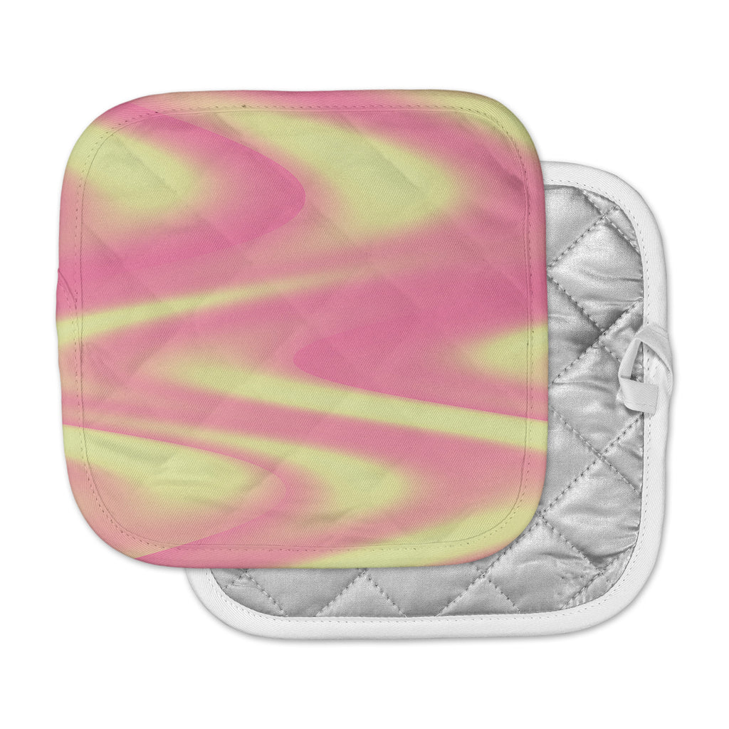 "Sylvia Coomes ""Sherbert Swirl"" Pink Yellow Pot Holder"