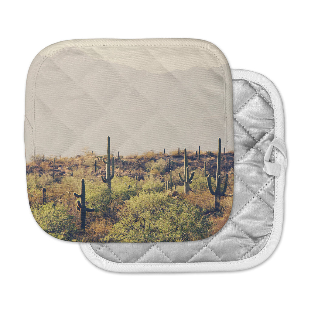"Sylvia Coomes ""Desert Landscape 5"" Brown Green Photography Pot Holder"