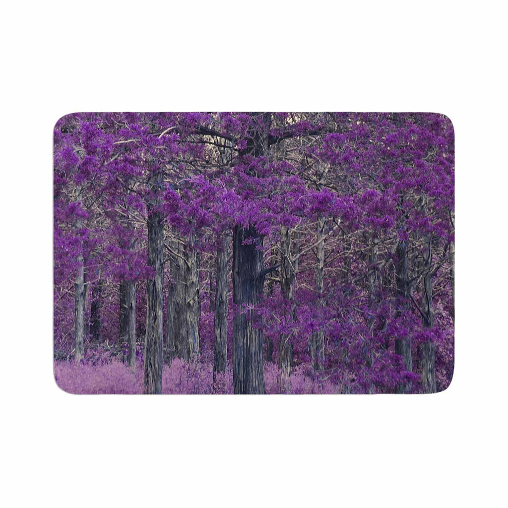 "Sylvia Coomes ""Purple Tree"" Purple Black Photography Memory Foam Bath Mat"
